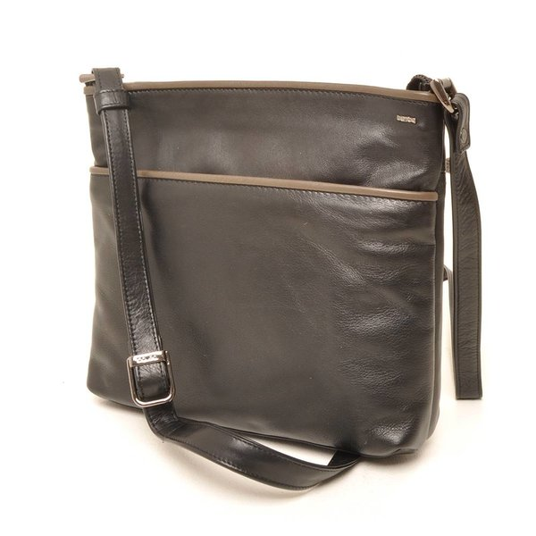 Berba Soft crossover zipper bag 005-440 Black / Taupe