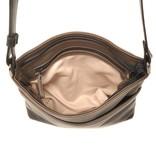 Berba Berba Soft-Crossover-Reißverschlusstasche 005-440 Schwarz / Taupe