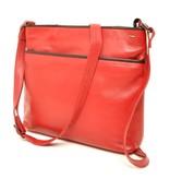 Berba Berba Soft-Crossover-Reißverschlusstasche 005-440 Rot / Schwarz