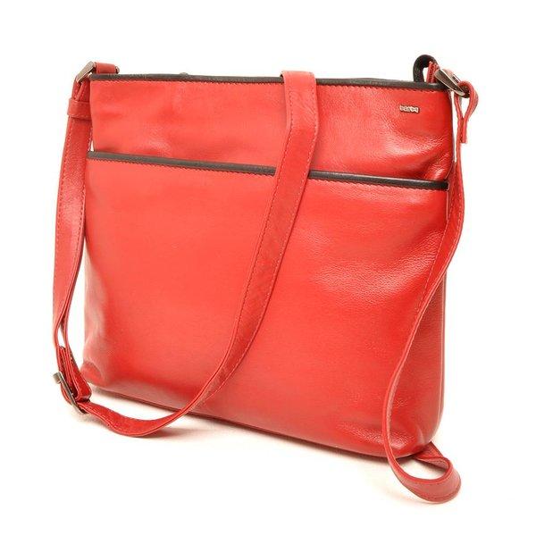 Berba Soft-Crossover-Reißverschlusstasche 005-440 Rot / Schwarz