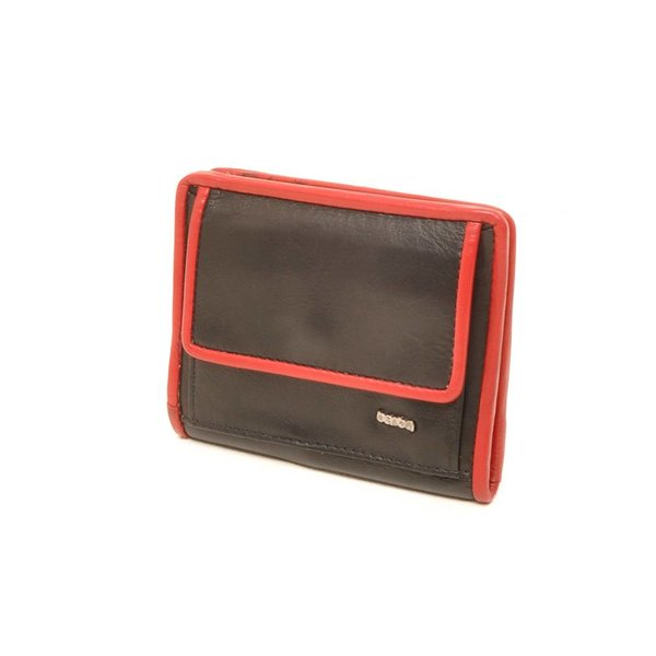 Berba Soft Portemonnee 001-411 Zwart / Rood