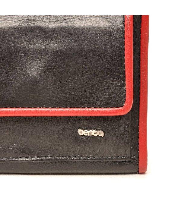Berba Berba weiche Mappe 001-411 Schwarz / Rot