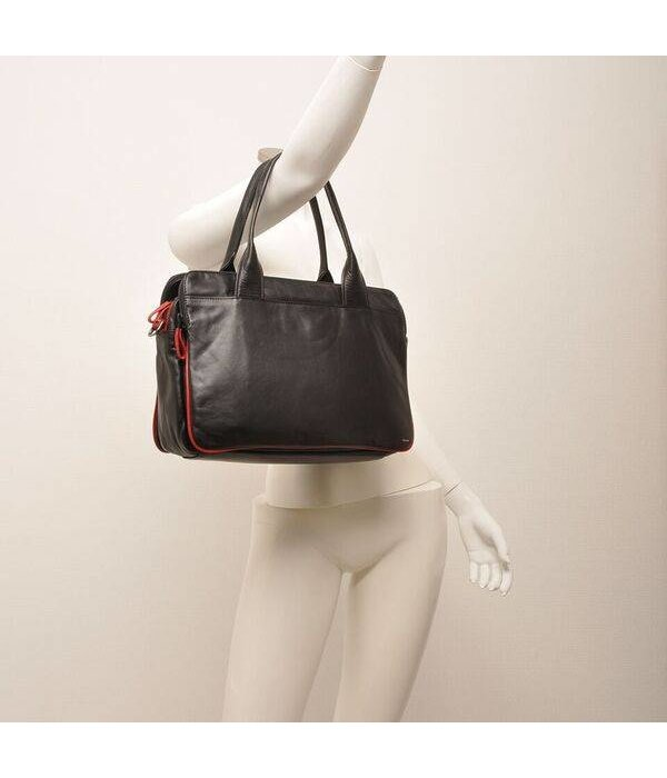 Berba Berba Soft Bag / Business Case im A4-Format 005-964 Schwarz / Rot