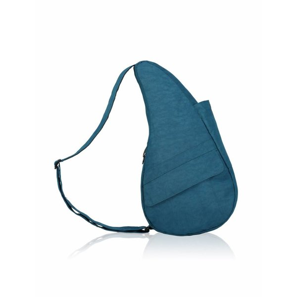 Die Healthy Back Bag texturierte Nylon Turkish Blue mit Ipad Fach Medium