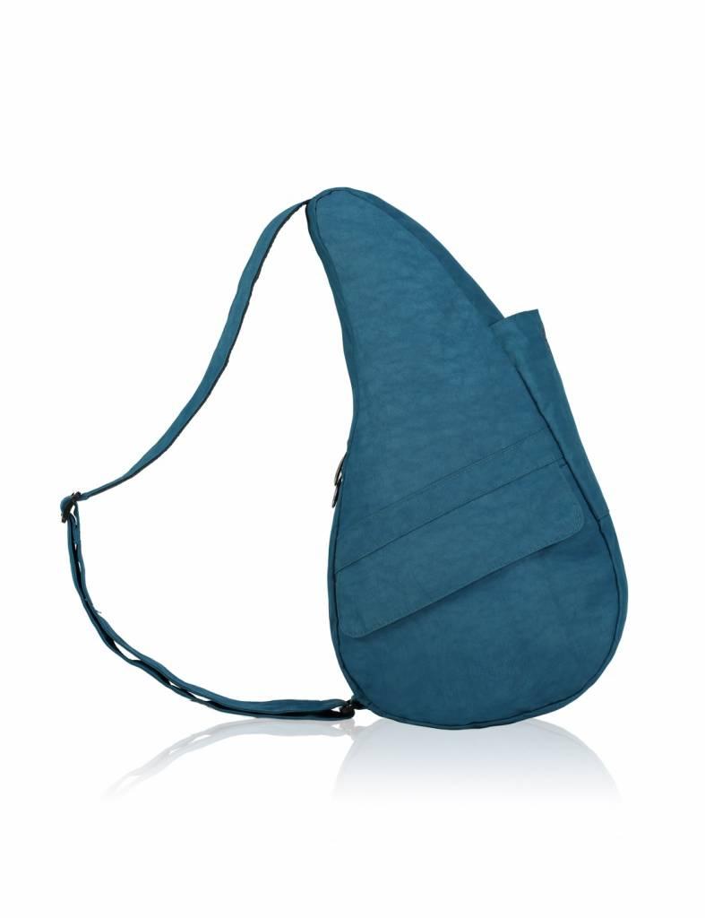 The Healthy Back Bag textured Nylon met Ipad vak Turkish Blue Medium