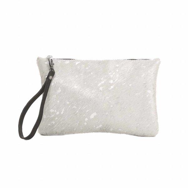 Chabo Silver Skin Clutch