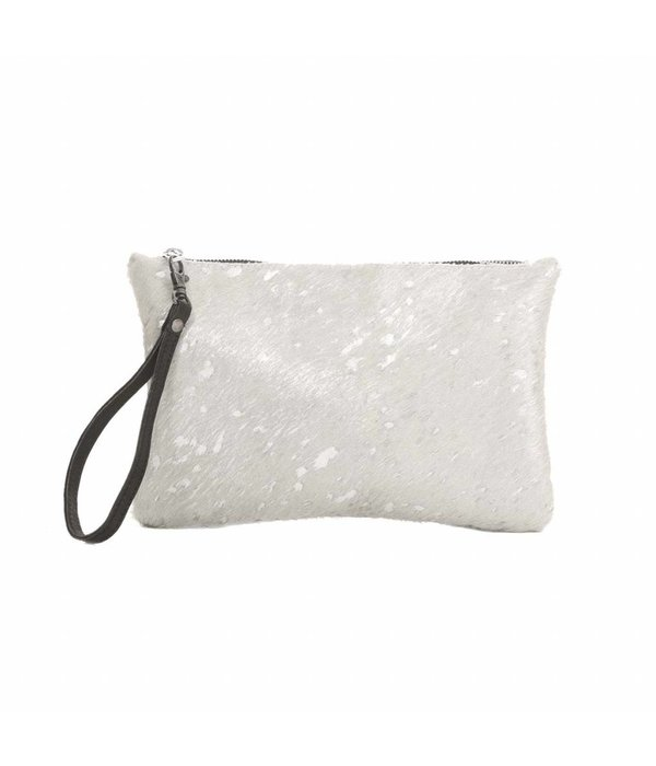 Chabo Bags Chabo Silver Skin Clutch