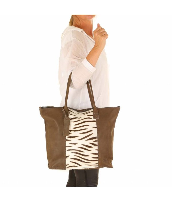 Chabo Bags Chabo Shopper Tiger Taupe