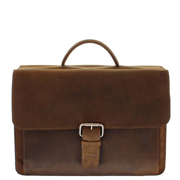 Plevier Leder-Laptop Brown