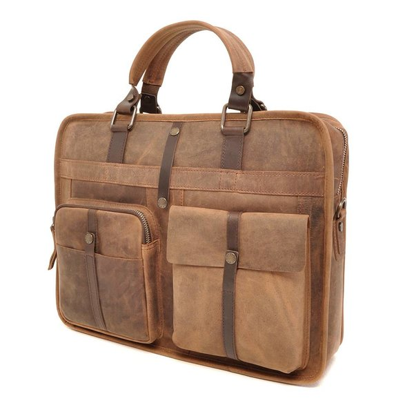 LEREN LAPTOP TAS BARBAROSSA 826-130-71 Coffee