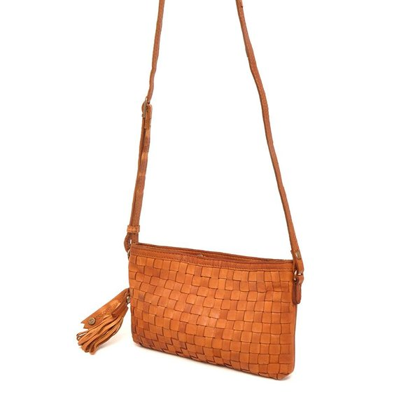 LEATHER SHOULDERBAG BARBAROSSA NASTRI 815-230-11 Cognac