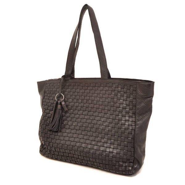 LEATHER SHOPPER BARBAROSSA NASTRI 815-236-00 Black