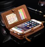 Floveme Luxe Portemonnee/Iphone Houder Floveme voor Iphone 7 Plus/ 7S Plus / 6S Plus/ 6 Plus Blauw