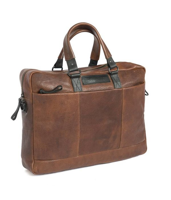 Bagz4you Bagz4you laptoptas Cognac