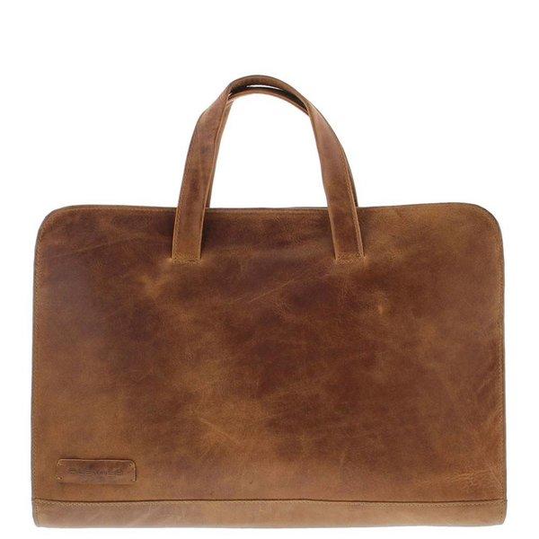 """Laptop Sleeve/Tas Volnerf Rundleer 1-vaks 15""""-15.6"""" Cognac 704-3"""
