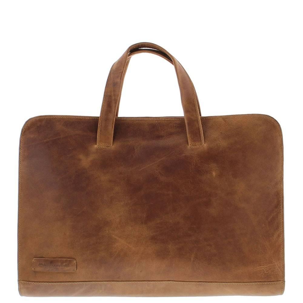 Laptop Sleeve/Tas Volnerf Rundleer 1-vaks 15-15.6 Cognac 704-3
