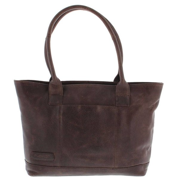 "Tote Laptop Bag Ladies Full Grain Cowhide 2-compartment 14 ""-15"" Dark Brown 481"