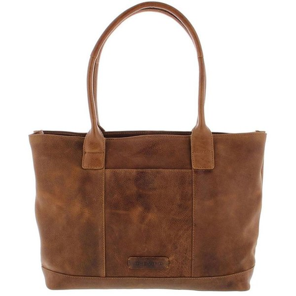 "Tote Laptop Bag Ladies Full Grain Cowhide 2-compartment 14 ""-15"" Cognac481-3"
