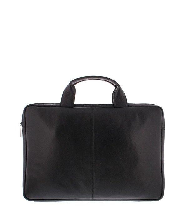 """Plevier Notebook-Tasche Soft-Nappa-Leder 15.6 """"Schwarz 4079-1"""
