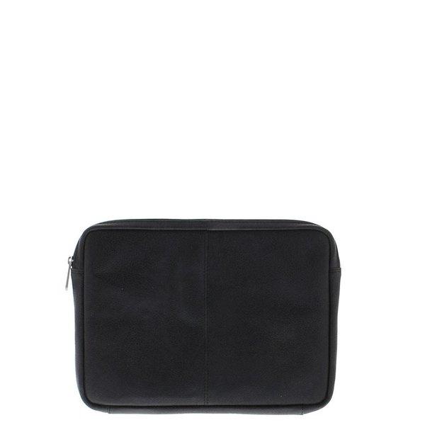 """Plevier Laptop Sleeve Full grain cowhide 12 """"Black 491-1"""
