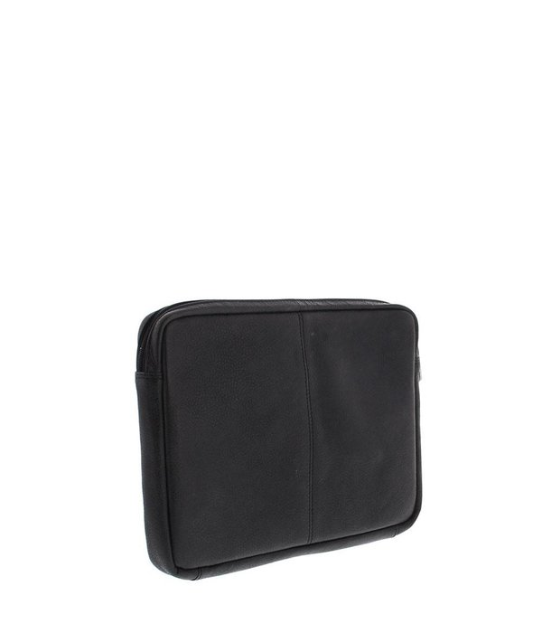 "Plevier Plevier Laptop Sleeve Vollnarbenleder 12"" Black 491-1"