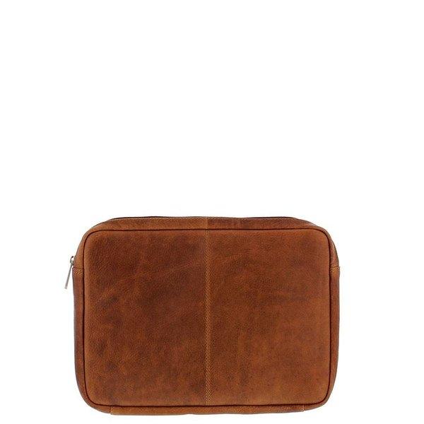 """Plevier Laptop Sleeve Full grain cowhide 12 """" Cognac 491-3"""