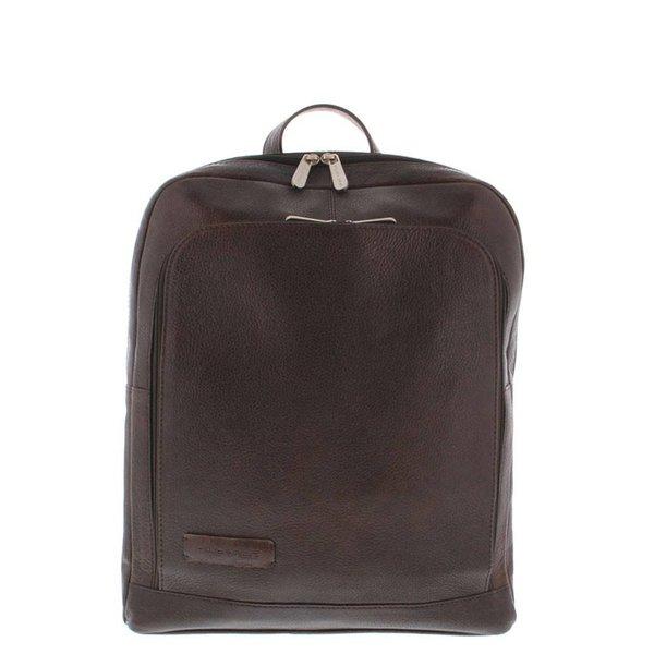 "Plevier Backpack Laptop bag Full grain Cowhide 1-compartment 13 ""-15"" Dark Brown 484"