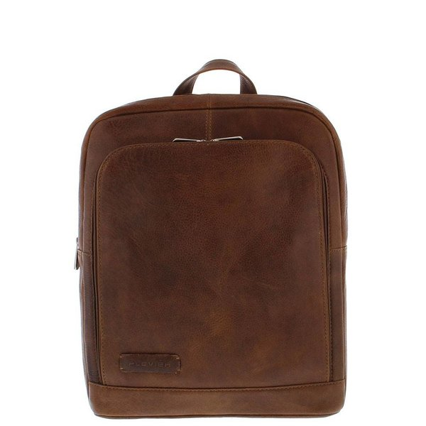 "Plevier Laptop-Rucksack Kuhhaut 1 ist 13 ""-15"" Cognac 484-3"