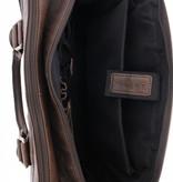 """Plevier Plevier Tote Laptop Bag Dames Volnerf Rundleer 1-vaks 15.6"""" Cognac 483-3"""