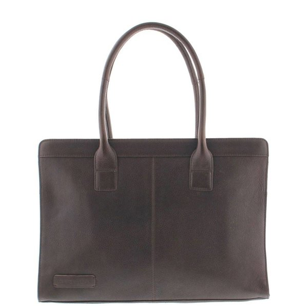 Plevier Business / laptop bag ladies cowhide 478 Dark Brown