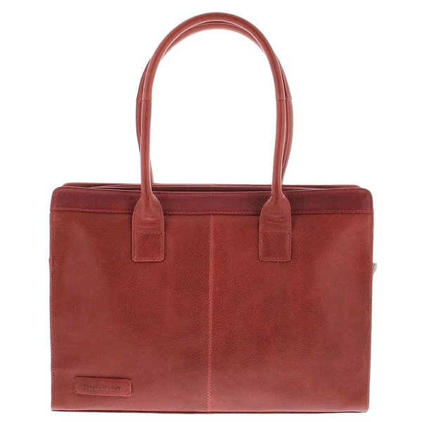 Plevier Business / laptop bag ladies cowhide 478 Red-5