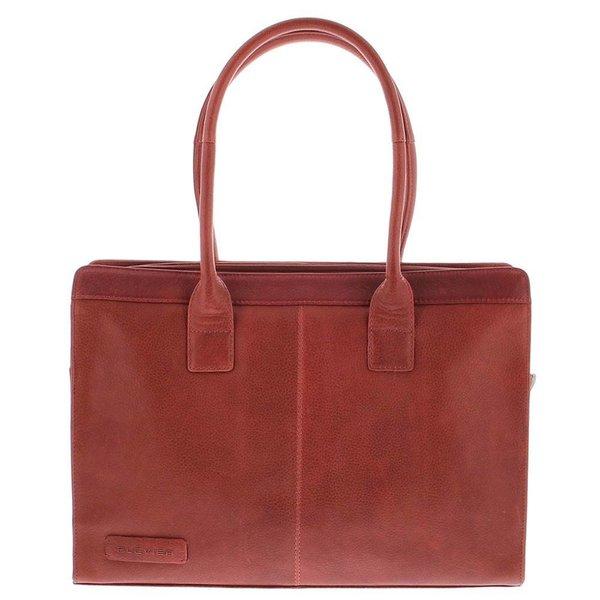 Plevier Gewerbe- / Laptop-Tasche Damen Kuhhaut 478 Rot-5