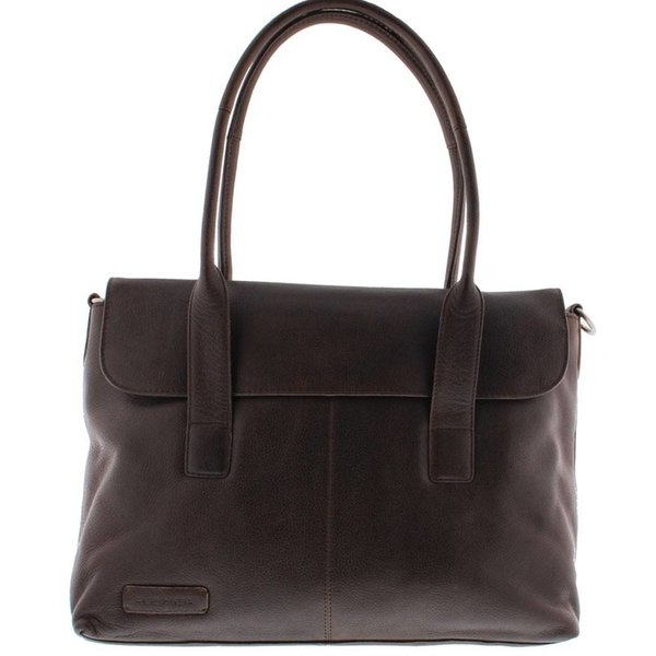 "Plevier Business / laptop bag ladies' full grain leather one-compartment 15.6"" Dark Brown 473-2"