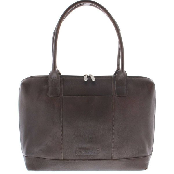 "Plevier Business / laptop bag ladies cowhide 1-compartment 15.6 "" Dark Brown 475-2"