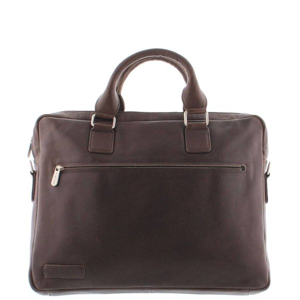 Plevier Leather Laptop Bag 15.6 inch Dark Brown 477-2