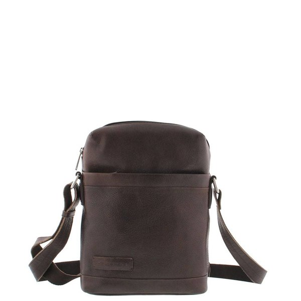 Plevier Leather Reporter Bag 10.1 inch Dark Brown 479-2