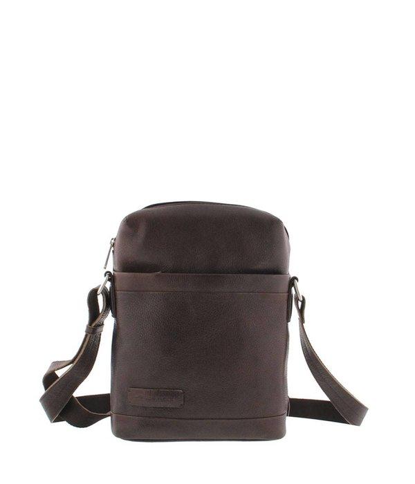 Plevier Plevier Leder Reporter Tasche 10,1 Inch Dark Brown 479-2