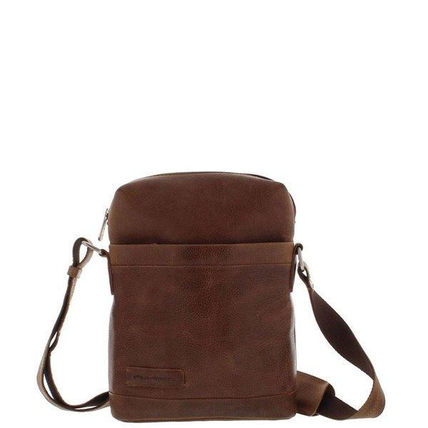 Plevier Leather Reporter Bag 10.1 inch Cognac 479-3