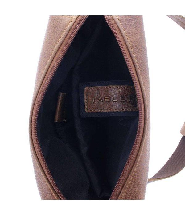 Plevier Plevier Leder Reporter Tasche 10,1 Inch Cognac 479-3