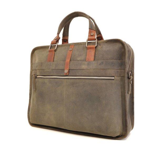 Leather laptop bag Barbarossa 826-129-23 Military