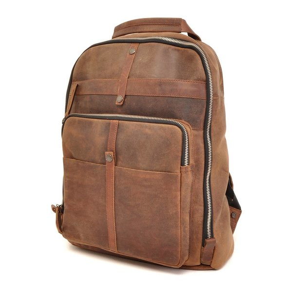 Leather backpack Barbarossa 826-150-71 Coffee
