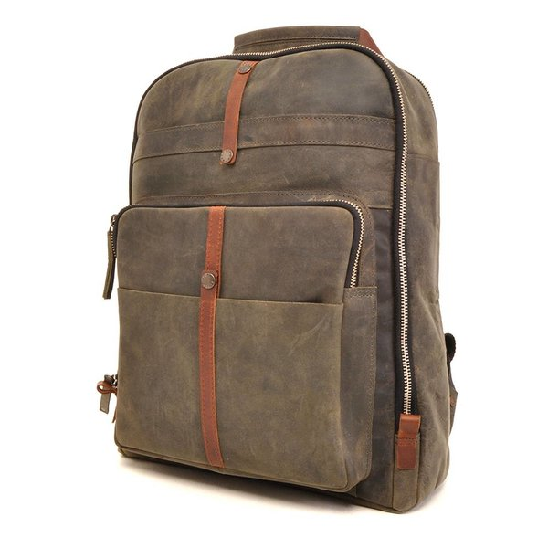 Leather backpack Barbarossa 826-150-23 Military