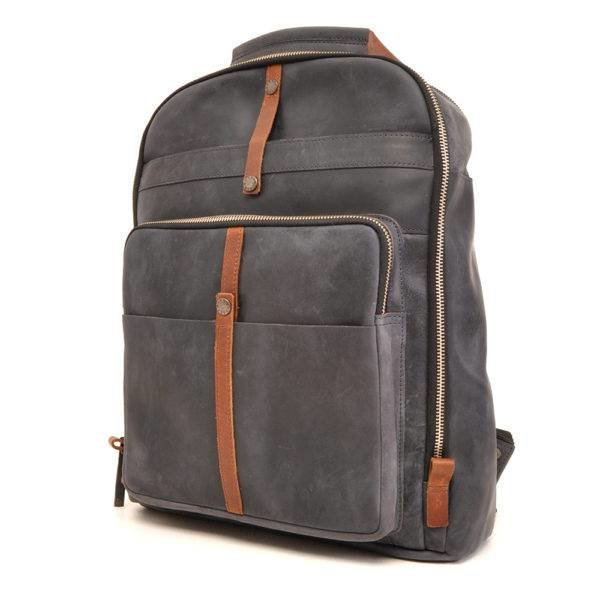 Leather backpack Barbarossa 826-150-07 Navy