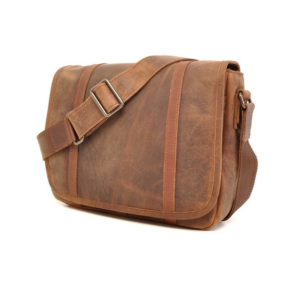 Leather laptop bag Barbarossa 826-145-71 Coffee
