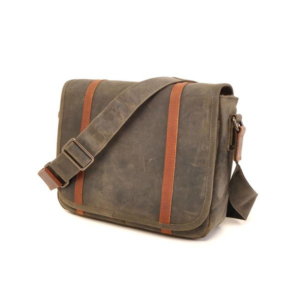 Leather laptop bag Barbarossa 826-145-23 Military