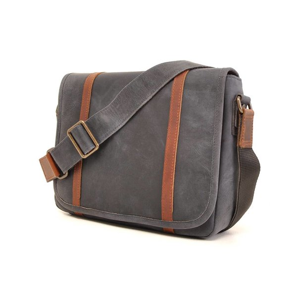 Leather laptop bag Barbarossa 826-145-07 Navy