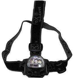 Fox Outdoor Hoofdlamp 3 LED's ,met dynamo, 3 functies, zwart