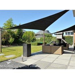 Nesling Coolfit Schaduwdoek Driehoek 90° 5,0x5,0x7,1 m Zwart - Nesling
