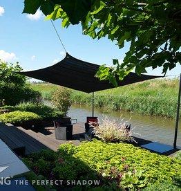 Nesling CoolFit Schatten Tuch Platz 5,0x5,0x5,0x5,0 m Schwarz - Nesling