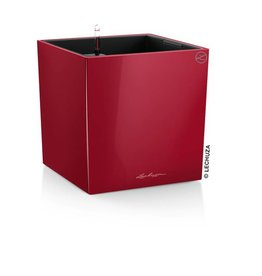 Lechuza Cube Premium 40 Scharlakenrood hoogglans ALL-IN-ONE